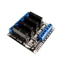 Moduł przekaźnika 4-kanały półprzewodnikowy 5V SSR - Arduino