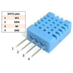 Czujnik DHT11 pomiar temperatury i wilgotności 1-wire - Arduino
