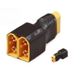 XT60 (żeńskie) na 2xXT60 (meskie) - krótkie - do równoległego łączenia akumulatorów