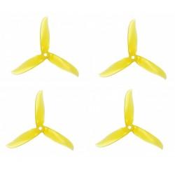 Śmigła DAL CYCLONE T5046C - Crystal Yellow - Tri-blade - 5x4,6x3 - 2xCW/2xCCW - DAL-PROP