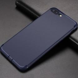 Etui silikonowe - IPhone 7 - case - granatowy