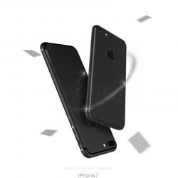 Etui silikonowe - IPhone 7 - case - czarny - z otworem