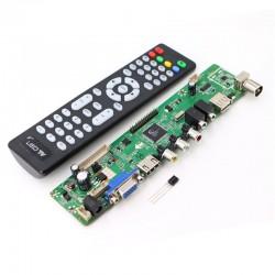 Sterownik V56 do LCD - kontroler LLV56 - odbiornik TV - PC - VGA/ HDMI/ USB