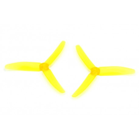 Śmigła DYS 5040 3-blades - Crystal Yellow - 5x4x3 - 2 szt XT50403