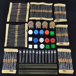 Zestaw rezystorów, diód, przełączników - kit - Arduino
