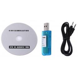 Symulator lotu 4in1 - USB na wtyk Jack - FMS/XTR/G4/Aerofly