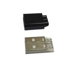 Wtyk USB typ A - montowany na kabel - potrójne wyjście