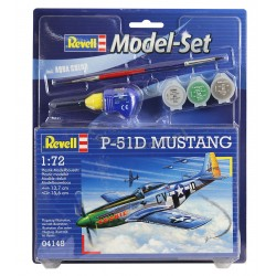 P-51D Mustang - REVELL - 64148 - Zestaw z klejem i farbami