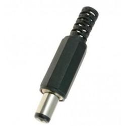 Wtyk Jack DC 5,5mm/2,1mm - żeńskie na przewód lutowany