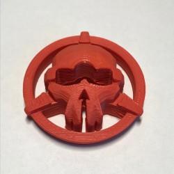 Osłona na drążki / gimbale - czaszka - Taranis X9D / Plus - czerwona