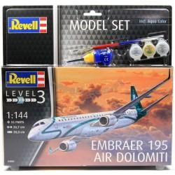 Embraer ERJ-195 - REVELL - 64884 - Zestaw z klejem i farbami