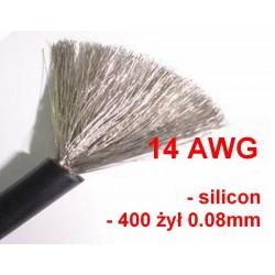 Przewód silikonowy 14AWG - czarny - 1m