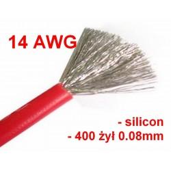 Przewód silikonowy 14AWG - czerwony - 1m
