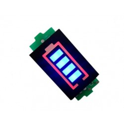 Wskaźnik naładowania akumulatora 3S - Li-Po - Li-ion - 25/50/75/100% - niebieski