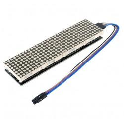 Matryca LED 32x8 + sterownik MAX7219 - LED czerwony - moduł