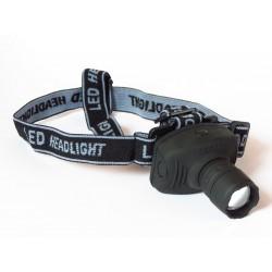 Latarka Czołowa LED 3W z ZOOMem - Lampa LED 3W