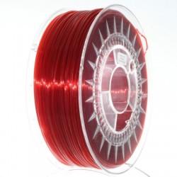 Filament Devil Design 1KG PETG 1,75 mm Czerwony Rubinowy Transparentny