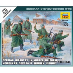 Zvezda 6198 German Infantry (winter uniform, 1941-1945)