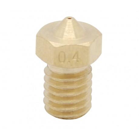 Dysza 0,4mm M6 - Filament 1,75mm - H12.7mm - mały stożek - RepRap E3D V5 V6