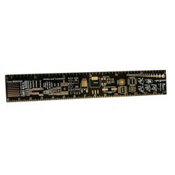 Linijka wzornikowa elementów SMD - 15x2,5cm - do warsztatu elektronika