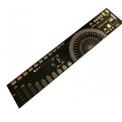 Linijka wzornikowa elementów SMD - 21x4cm - do warsztatu elektronika - PCB