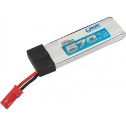 570mAh 3.7V 30C LiPo JST do Blade 120SR