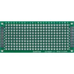 Płytka uniwersalna 30x70mm - PI22Z - dwustronna - PCB budowa prototypów