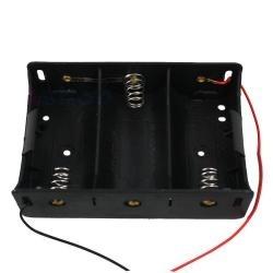 Koszyk na baterie 3xR20 (D) - koszyczek kostka z przewodami
