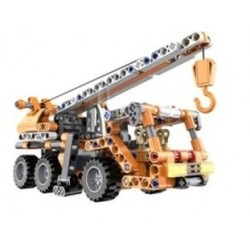 Ciężarówka dźwig - do zbudowania z klocków - PULL BACK (C52013W)