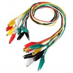 Przewody z krokodylkami 5 szt - kable 5 kolorów - 50cm