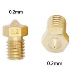 Dysza 0,2mm M6 - Filament 3mm - H12.7mm - mały stożek - RepRap E3D V5 V6