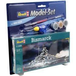 Bismarck Set - 65802 - Revell - Zestaw z farbkami i klejem