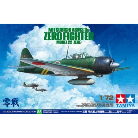Tamiya 60785 Mitsubishi A6M3/3a Zero Fighter Model 22 (Zeke)