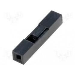 Wtyk kołkowy 2.54mm - 1 pin - osłonka - 10 szt