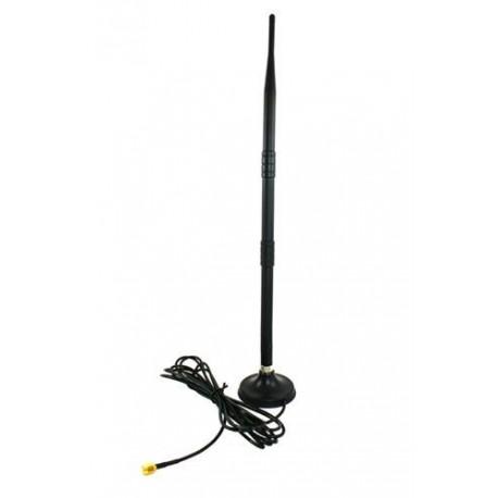 Antena 410mm 2,4GHz (12dbi) - wtyk RP-SMA - z podstawką