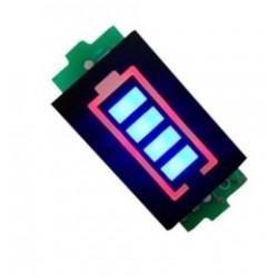 Wskaźnik naładowania akumulatora 1S - Li-Po - Li-ion - 25/50/75/100% - niebieski