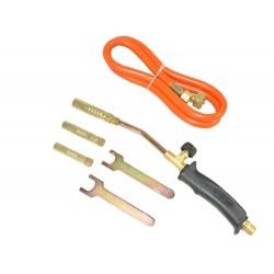 Palnik gazowy do lutowania - 3 dysze - wąż do butli - klucze