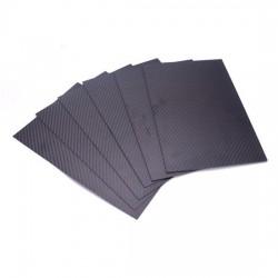 Płyta Carbon 1,5mm 200x300mm - tkanina węglowa 3K - splot TWILL