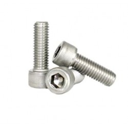 Śruba Socket M2x10 - 10 szt - pod klucz imbusowy - moletowana główka