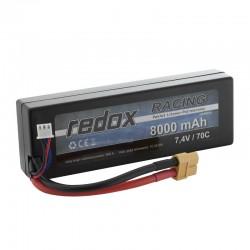 Redox RACING 8000 mAh 7,4V 70C Hardcase - pakiet LiPo