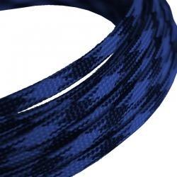 Oplot na przewody 4mm/8mm - niebiesko-czarny - oplot poliestrowy/ Plecionka - 1mb