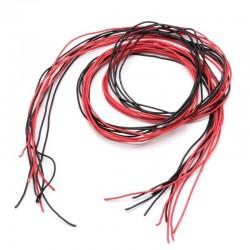 Przewód silikonowy 30AWG - 1 żyła - 0,05 mm2 - czerwony - elastyczny