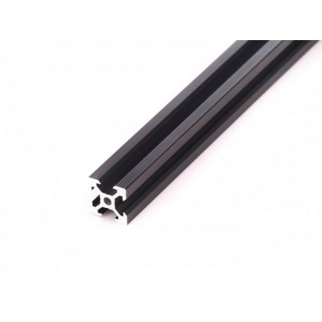 Profil aluminiowy T6 2020 T6 250mm - anodowany czarny - do drukarek 3D, stelaży, maszyn przemysłowych