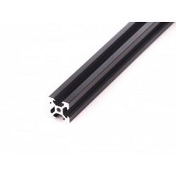 Profil aluminiowy T6 2020 T6 500mm - anodowany czarny - do drukarek 3D, stelaży, maszyn przemysłowych