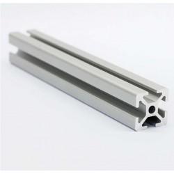 Profil aluminiowy T6 2020 17-20 cm -  - anodowany - do drukarek 3D, stelaży, maszyn przemysłowych