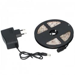 Taśma LED 5m z zasilaczem - biały zimny - wodoodporna taśma LED