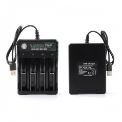 Ładowarka do akumulatorów Li-ion USB - 4 x 18650 - 1000mA - 4,2V