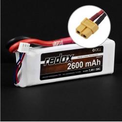 Redox 2600 mAh 7,4V 30C - pakiet LiPo