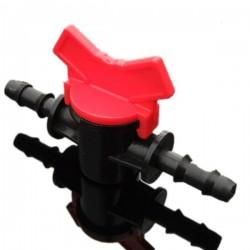 Zawór wciskany 10 mm - dwukierunkowy z regulacją przepływu - linia nawadniająca