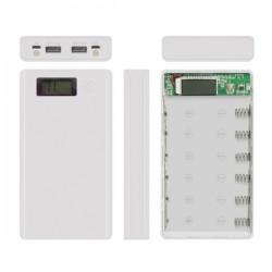 Obudowa powerbank na 6 akumulatorów 18650 z LCD - 2xUSB 5V (1A) + 5V (2A)